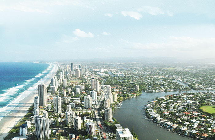 australia queensland gold coast skypoint climb travel view coastline adventure