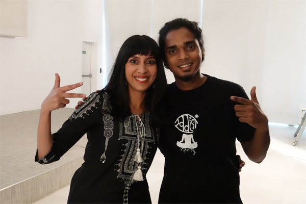 Author Snigdha Poonam with Rapper Tod Fod of Swadesi