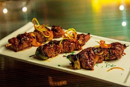 Beef paprika skewers
