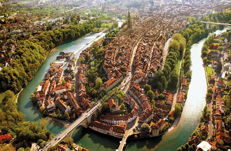 Aerial view of Bern