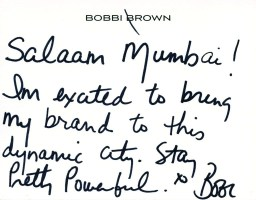 Note from Bobbi Brown
