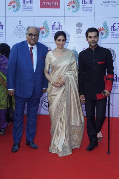 Boney Kapoor, Sridevi & Rajkumar Rao