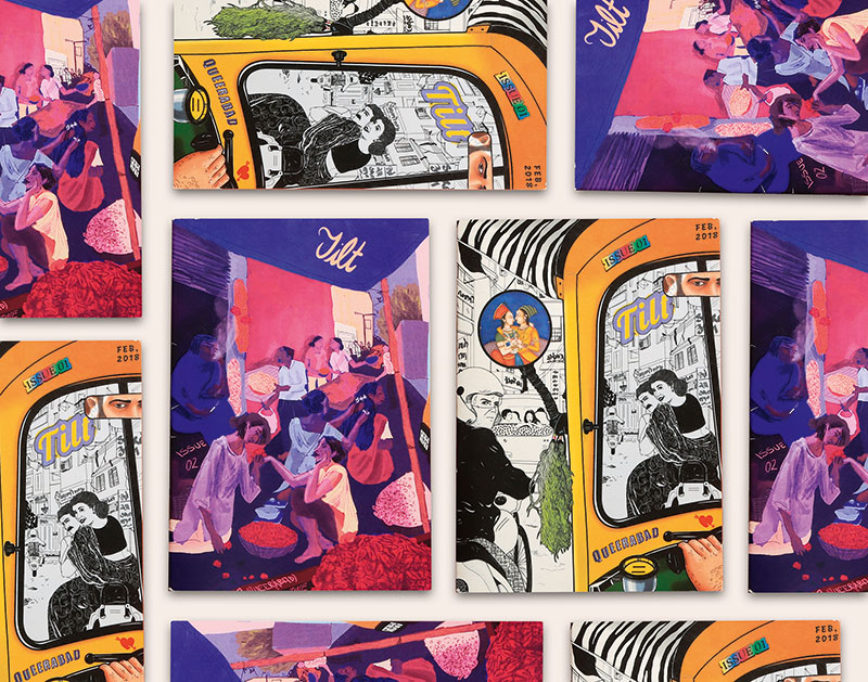 A photo-collage of The covers of both the editions of Tilt