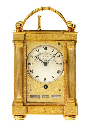 Quarter-repeating Travel Clock with Almanac purchased by General Napoleon Bonaparte in 1798