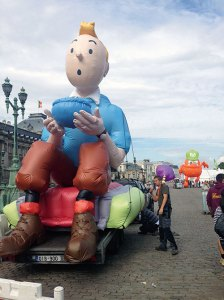 Tintin float for the Balloons' Day parade