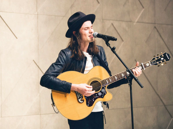 James Bay performing live at the Burberry Prorsum Womenswear Spring/Summer 2015 Show