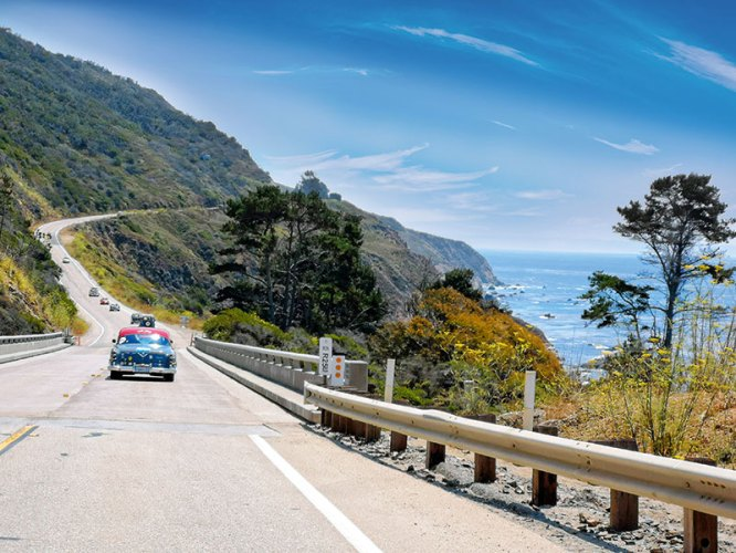 Driving down highway 1