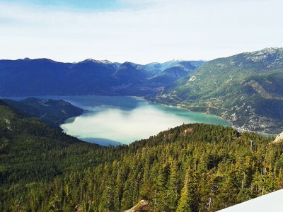 Summit view accessed by Sea to Sky Gondola, near Squamish