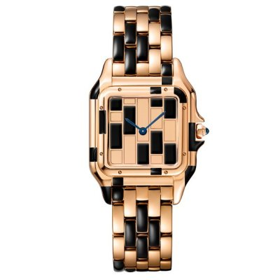 Cartier Panthere de Cartier rose gold and black lacquer