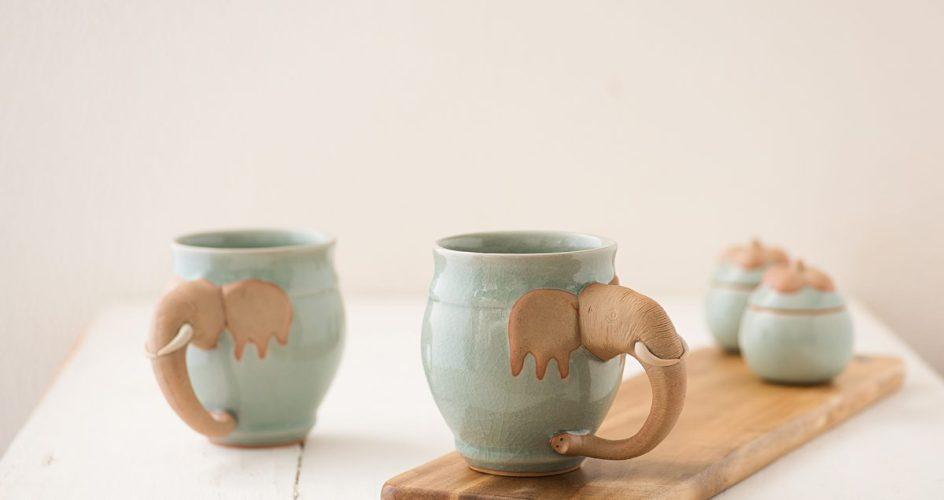 Celadon mugs