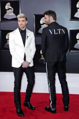 The Chainsmokers in in Valentino and David Yurman jewelry