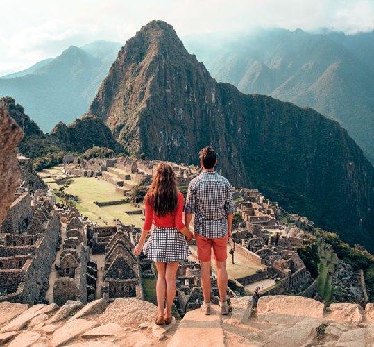 Cartell and Dirnberger at Machu Picchu, Peru