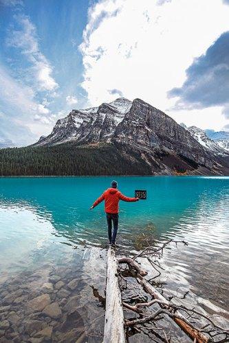 Dirnberger at Lake Louise, Banff National Park, Canada