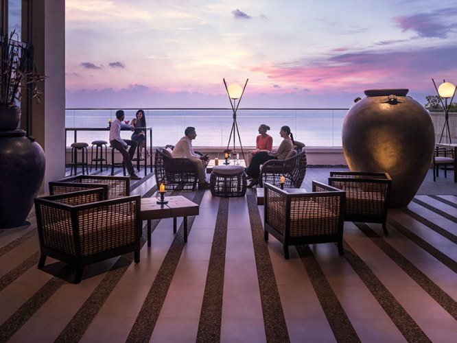Outdoor seating area at Kaema Sutra