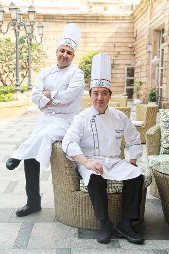 Chef Anshul Dhyani and Chef Liang Xiao Qing