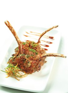 New Zealand lamb chops with thai basil and spices