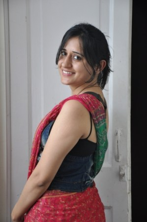 Preksha Sharma in a denim corset