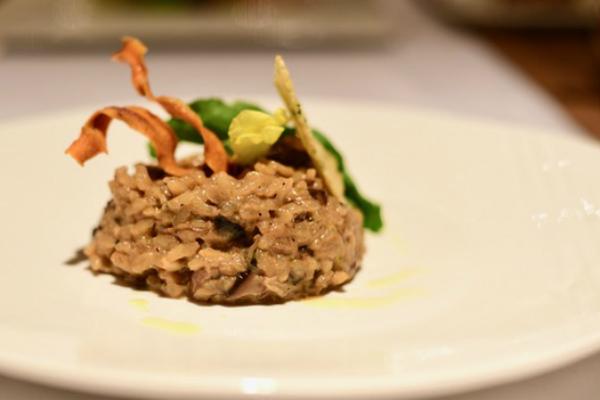 Wild mushroom risotto with truffle