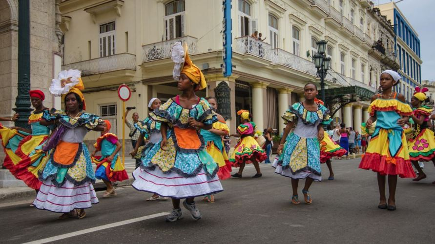 Local dancers celebrating Havana Day