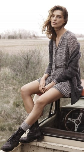 Daria Werbowy for Mango's Fall 2014 campaign