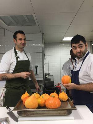 Chef Matt and Chef Prateek picking their ingredients