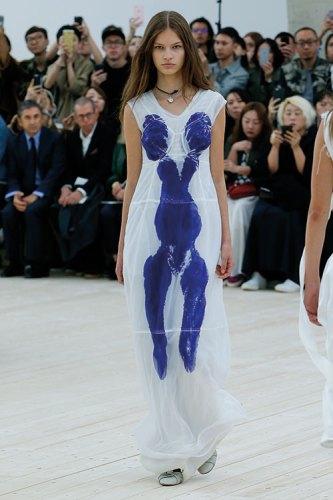 A Céline Dress inspired by Yves Klein