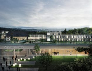 Rendering of the future EHL Campus Lausanne designed by students for students