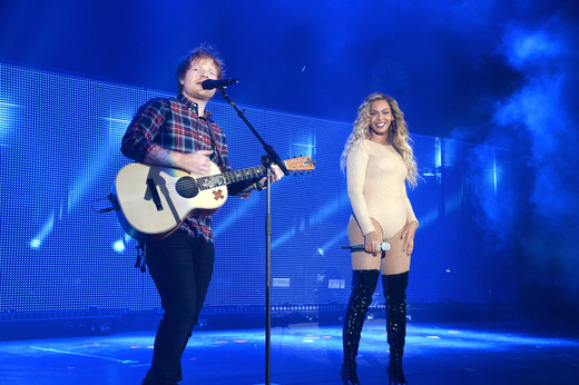 Ed Sheeran and Beyonce Knowles