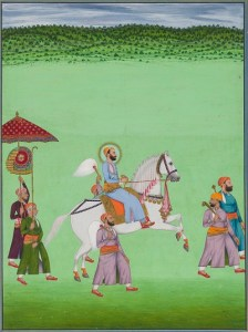 Equestrian portrait of Maharana Fateh Singh in procession, Udaipur