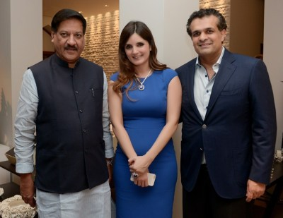 Ex Chief Minister Prithviraj Chauhan with Simone and Ajay Arora
