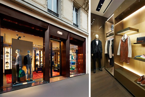 Fendi's exclusive men's boutique in Paris