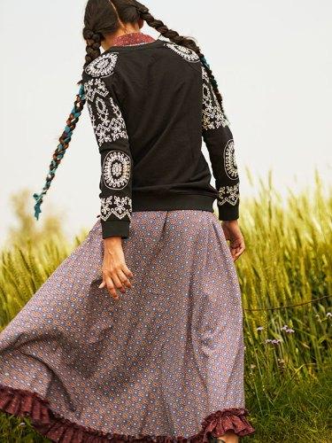Top, from Hemant & Nandita; dress, from Studio 51 by Ansh Bhutani.