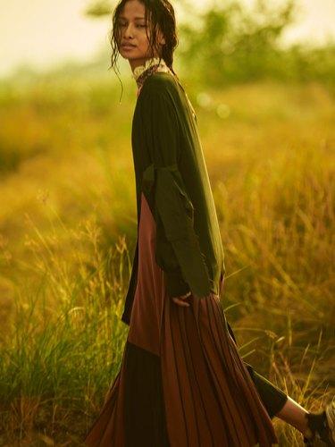 Dress (worn inside) from Hemant & Nandita; dress, from Bodice.