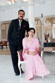 Jitendra Singh Rathore and Gayatri Kumari