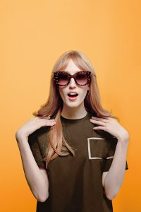 Fendi and Thierry Lasry Sunglasses featuring Anna Cleveland