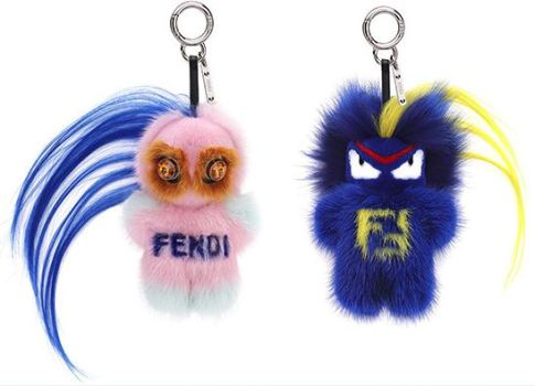 Customised bag charms from Fendi