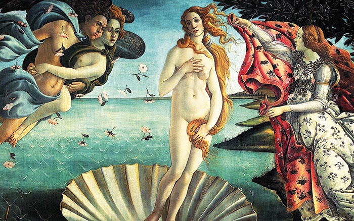 Birth of Venus at Uffizi Gallery