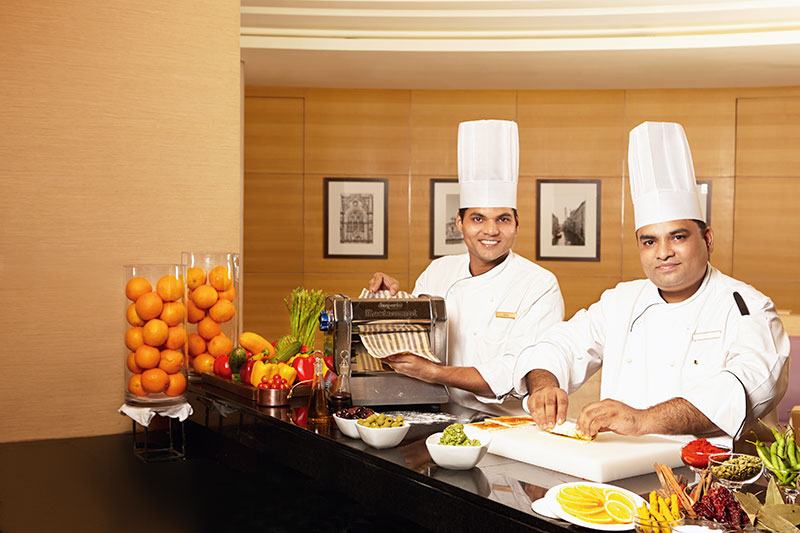 Chef Vikas Vichare and Senior Sous Chef Ashish Bagul