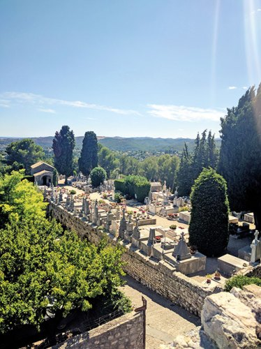 The town's cemetery that houses Marc Chagall's grave