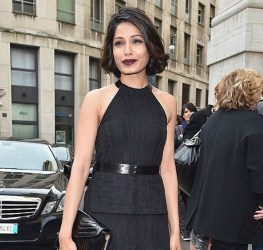 Freida Pinto at Salvatore Ferragamo