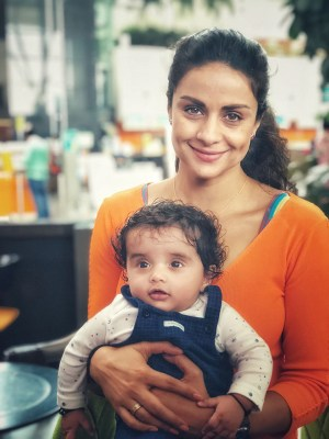 Gul Panag with Nihal