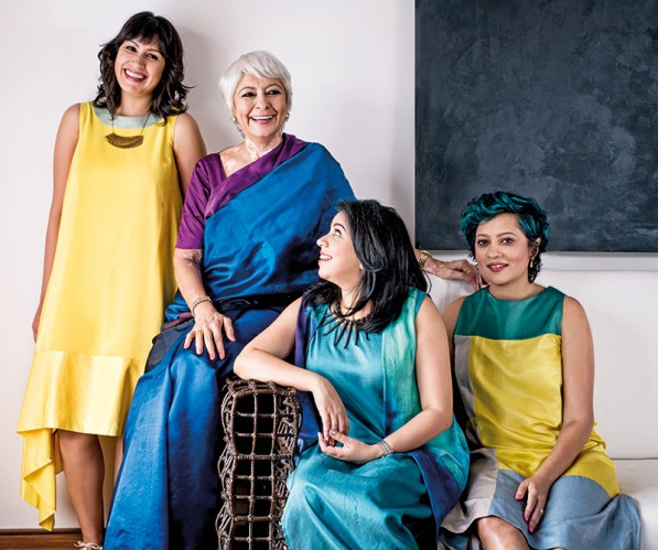 From left to right: Avani Raheja, Geetu Hinduja, Veda Raheja, Neha Raheja Thakker