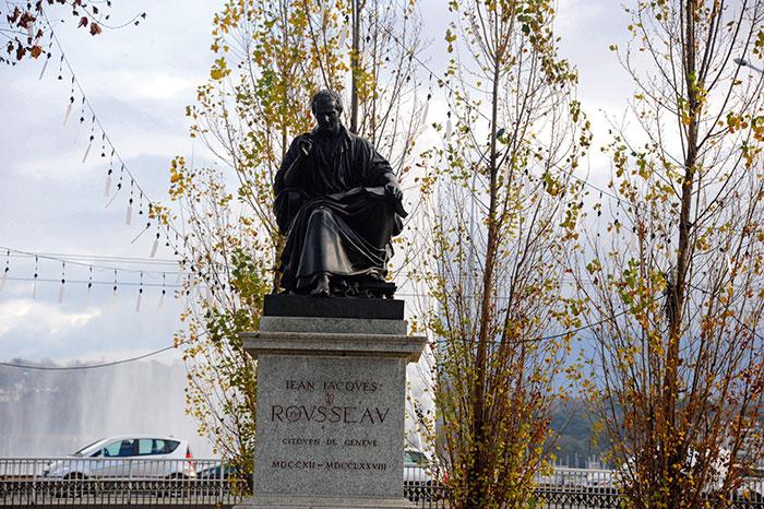 Statue of philosopher Jean Jacques Rousseau
