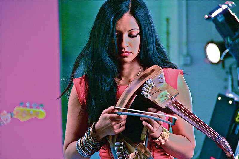 Gingger Shankar, Indian American singer, composer and multi-instrumentalist
