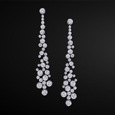 Graff infinity earrings with diamonds