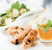 Grilled Shrimp on Sugarcane and Litchi (Chao Tom with Litchi)