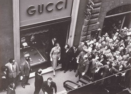 Grace Kelly at the Gucci store, Milan