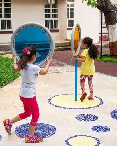 Coloured Lollipops at Victoria memorial school for the blind, Mumbai