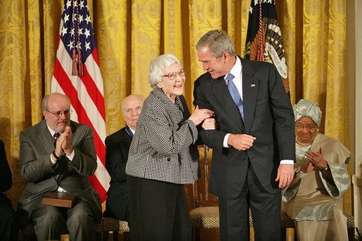 Lee being awarded the Presidential Medal of Freedom, November 5, 2007