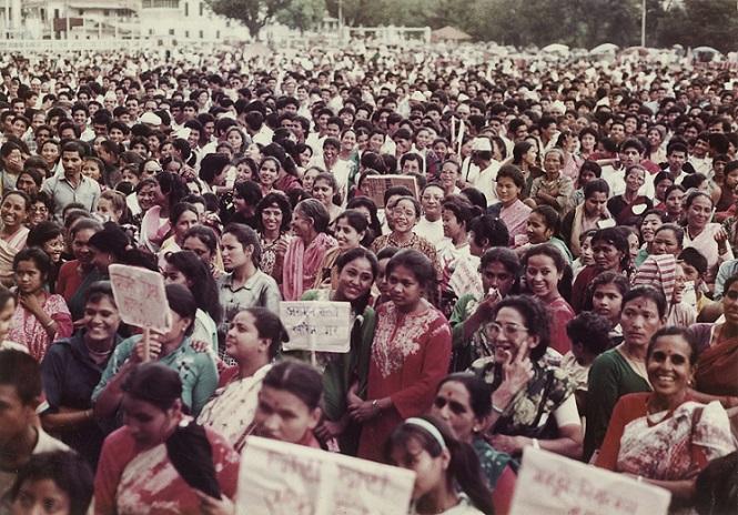 Hisila Yami Collection. Namita Sunita Protest 1981. Courtesy of Nepal Picture Library